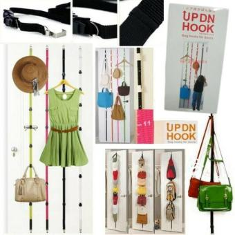 Promo UP DN HOOK Hanger Gantungan Tas-Topi-Baju Bag Hooks Di Pintu Terlaris