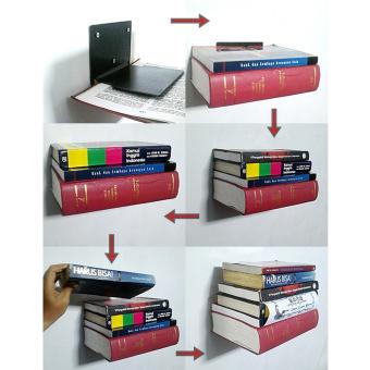 Multi Tujuan Pen Kombinasi Rak Buku Rak Buku Kayu Pemegang Pena Source · Rak buku meja Bahan Kayu kokoh. Source · Rak Buku Tak Kelihatan (RBTK) Versi Jumbo