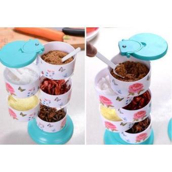 RAK TEMPAT BUMBU DAPUR SUSUN 5 MOTIF Tempat Bumbu Dapur Motif Spice Rak 5 in 1
