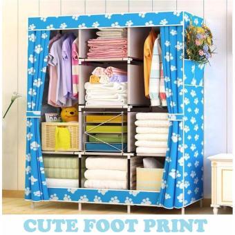 RAKUKU - Lemari Pakaian Jumbo / Rak Baju Serbaguna - Cute Foot Print