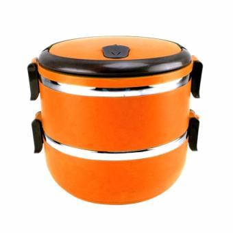 Rantang 2 Susun - Kotak Makan Stainless Steel - Lunch Box 1400 ml - Orange