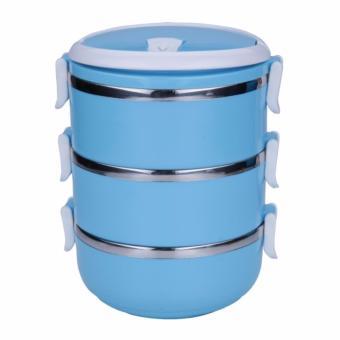 Rantang Makan 3 Susun Stainless Steel/ Lunch Box 3 Layer Stainless Steel - Warna