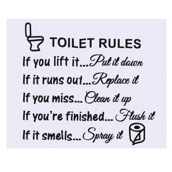... Toilet Yang Dapat Dilepas Aturan Wall Sticker Vinil Mandi Toilet Dekorasi Rumah Seni Stiker