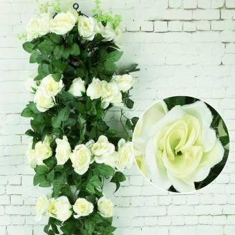 RHS Online 2.4 M Buatan Mawar Bunga Dedaunan Merambat Ivy Daun Tanaman Hiasan .