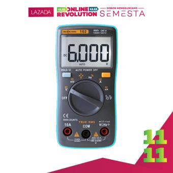RICHMETERS RM102 True RMS Multifunctional LCD Digital Multimeter DMM DC tegangan AC saat ini daya tahan