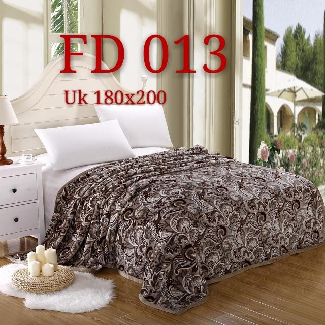 selimut bulu dewasa 180×200 motif kembang