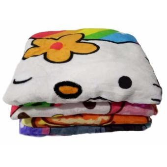 Selimut Bulu Lembut Karakter Anak Perempuan - Multicolor uk 150x200