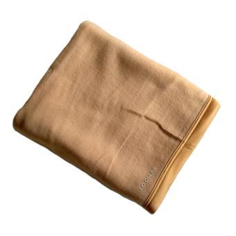 Selimut polos 160 x 180 Cm Kurnia Blanket - Coklat Muda