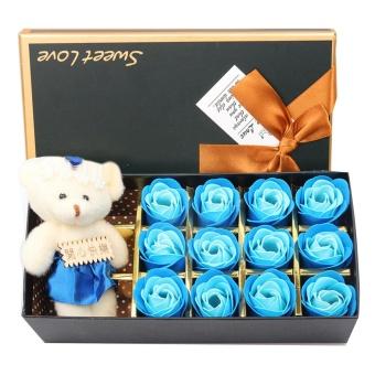 Hadiah romantis Set 12 buah mawar bunga sabun dengan beruang lucu kado ulang tahun spesial kado ... Source · ulang Tahun-Internasional .