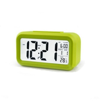 Pawaca Silent LED Alarm Clock With White Night Light Date Temperature