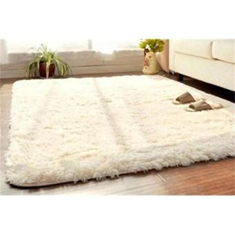 Lembut Fluffy Rugs Anti Selip Ramus Ruang Makan Karpet Rumah Karpet Kamar Tikar-Intl