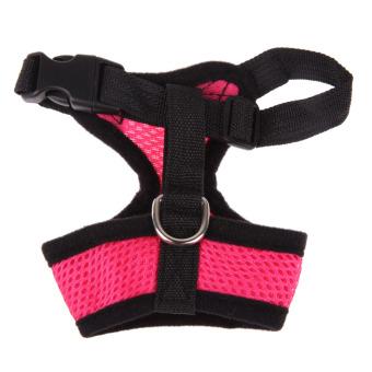 Jala Lembut Harness Anjing Hewan Peliharaan Kucing Anjing Pakaian Rompi Berwarna Merah Muda L