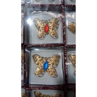 Souvenir Pernikahan Bros Kupu - Kupu Gold Isi 100 Pcs