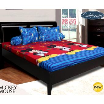 Sprei CALIFORNIA Motif MICKEY MOUSE 180 x 200 cm