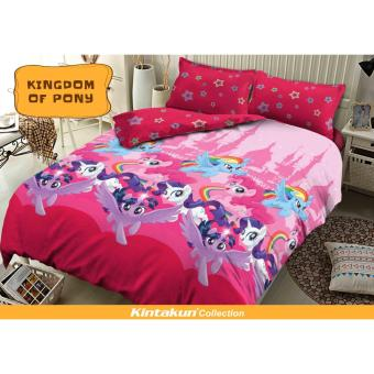 Sprei Kintakun D'luxe Uk.180X200 Motif KINGDOM OF PONY