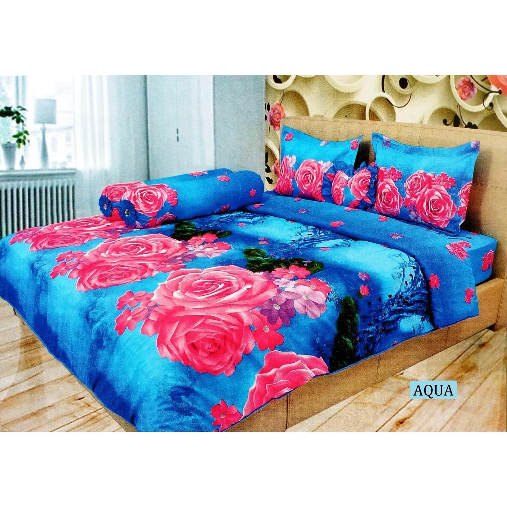 Shock Price Sprei Lady Rose King 180 x 200 Bahan Disperse Microtencel Halus Aneka Motif penjualan