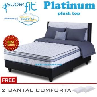 Comforta Spring Bed Comforta Super Fit Platinum Uk.160X200-Hanya Kasur Tanpa Divan Dan