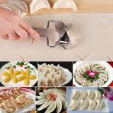 Gambar Produk Rinci Stainless Steel Press Dumpling Wrapper Cutter Cetakan Kue Maker Pastry Gadget-Intl Terkini