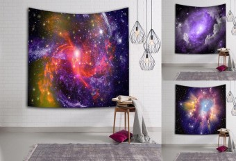 200*150cm Starry Sky Milky Way Tapestry Wall Hanging Carpet Beach Towel Blanket Yoga Mat