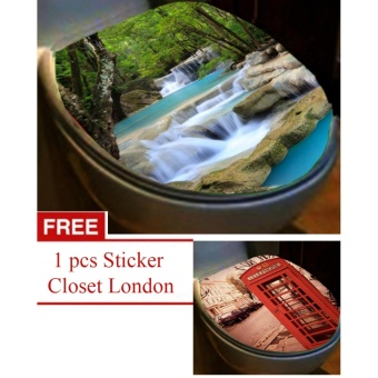 Sticker Closet Toilet Seri Natural Gratis 1 Sticker toilet London