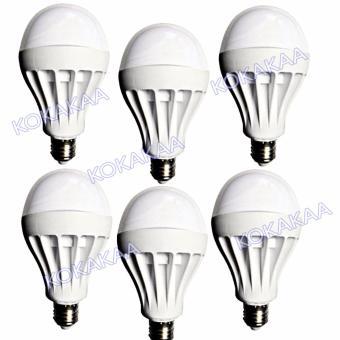 Sunfree Bohlam LED Bulb Cool White 18 Watt Bundle 6 Pcs