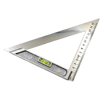 Sunshop Stainless Steel Berkualitas Tinggi dengan Horizontal Bead Segitiga Ruler 15 Cm-Intl
