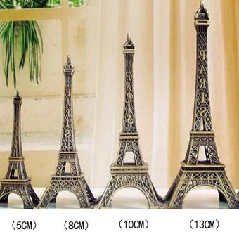 Sunshop Sempurna Hadiah Retro Perunggu Menara Eiffel Patung Model Home Car Dekorasi Meja Ornamen (5