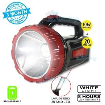 Surya Lampu Emergency + Senter Led 2 in 1 BigSize SHT L1020x Super LED 10w +