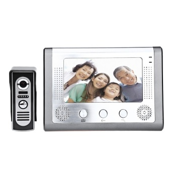SY801M11 7 Inches TFT Layar Video Interfon Inframerah Malam VisionDoorbell Interkom-Internasional