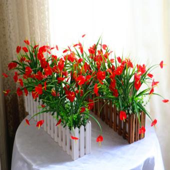 Tanaman hijau simulasi palsu bunga buatan