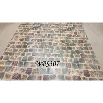 TERMURAH WALLPAPER STICKER WPS307 COLORFUL STONE WALPAPER STIKER DINDING PREMIUM QUALITY