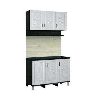 Topix Kitchen Set Cabinet Atas Bawah 3 Pintu Rak Bumbu Putih TPX513 -