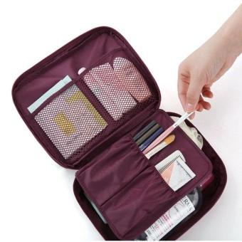 Travel Cosmetic Makeup Toiletry Case Bag Wash Organizer Storage Pouch Handbag RD - intl
