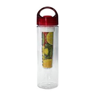 Tritan Water Bottle With Fruit Infuser BPA Free - Merah