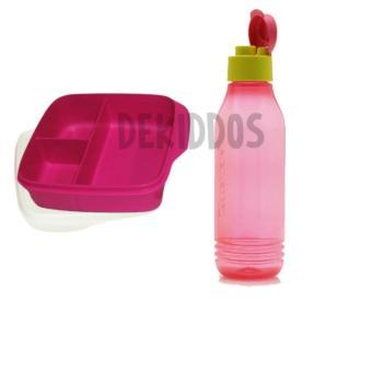 Tupperware Loly Groovy Set - Kotak Bekal dan Botol Minum