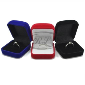 Review of U32 Fashion Velvet Cincin Kotak Perhiasan Kotak Tampilan Square Kotak Cincin-Intl belanja