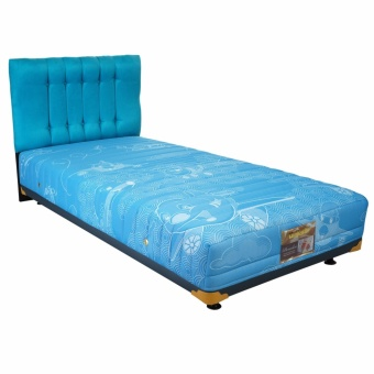 Uniland Springbed Multibed Beauty Bed Air Plane HB Suede Size 120 x 200 - Biru -