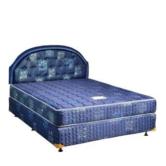 Uniland Springbed Standard Biru HB Flamboyan Size 180 x 200 - Full Set - Khusus Jabodetabek