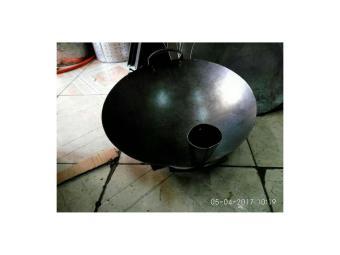 wajan plat baja hitam/ kuali nasgor uk 40cm