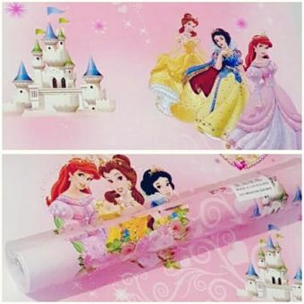 Wallpaper Sticker Dinding Pink Kartun Princess