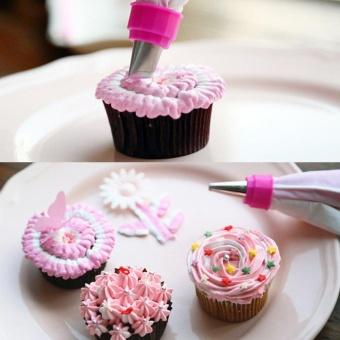 Putih & Perpipaan Perak Icing Bag Cake Cookie Cupcake Nozel Dekorasi Set Alat-Internasional