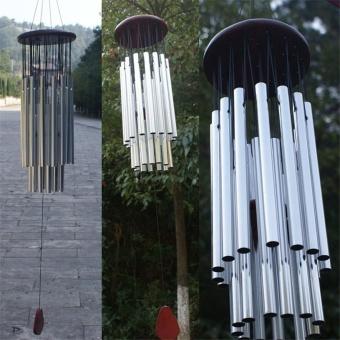 Wind Chimes Bells Outdoor Yard Garden Home Decor Ornament Silver - intl