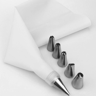 WONDERSHOP Icing Piping Cream Pastry Bag DIY Cake Decorating Cake Tools Nozzle Set ( White ) - intl