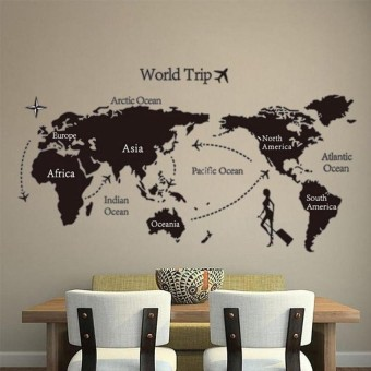 Jual modern faux brick textured adhesive wallpaper for living room peta perjalanan dunia quotes living room wall art bedroom poster diy homedecor anak anak kamar gumiabroncs Choice Image