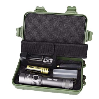 XML T6 LED Flashlight Torch Lamp + 18650 Battery + Charger + Case - intl