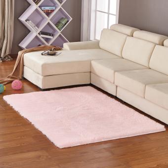 Yika Anti-Skid Shaggy Ruang Makan Kamar Tidur Fluffy Rugs Karpet Tikar 80 Cm *