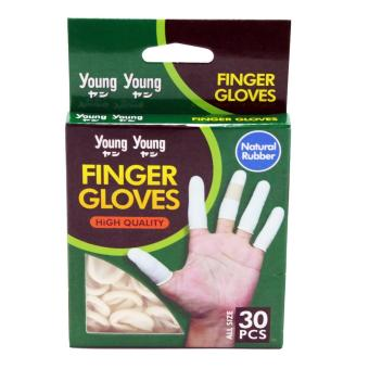 YOUNG YOUNG Sarung Jari Tangan IL FINGER GLOVES Finger Gloves Natural Rubber - Putih