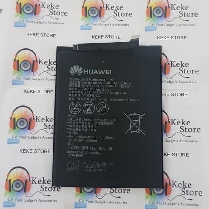 baterai original huawei nova 3i hb356687ecw mate 10 lite 3340mah battery batre batrei