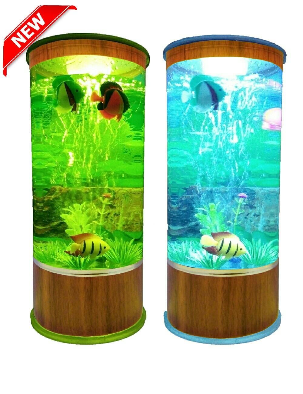 (promo) aquarium mini plus lampu mesin aerator oxygen