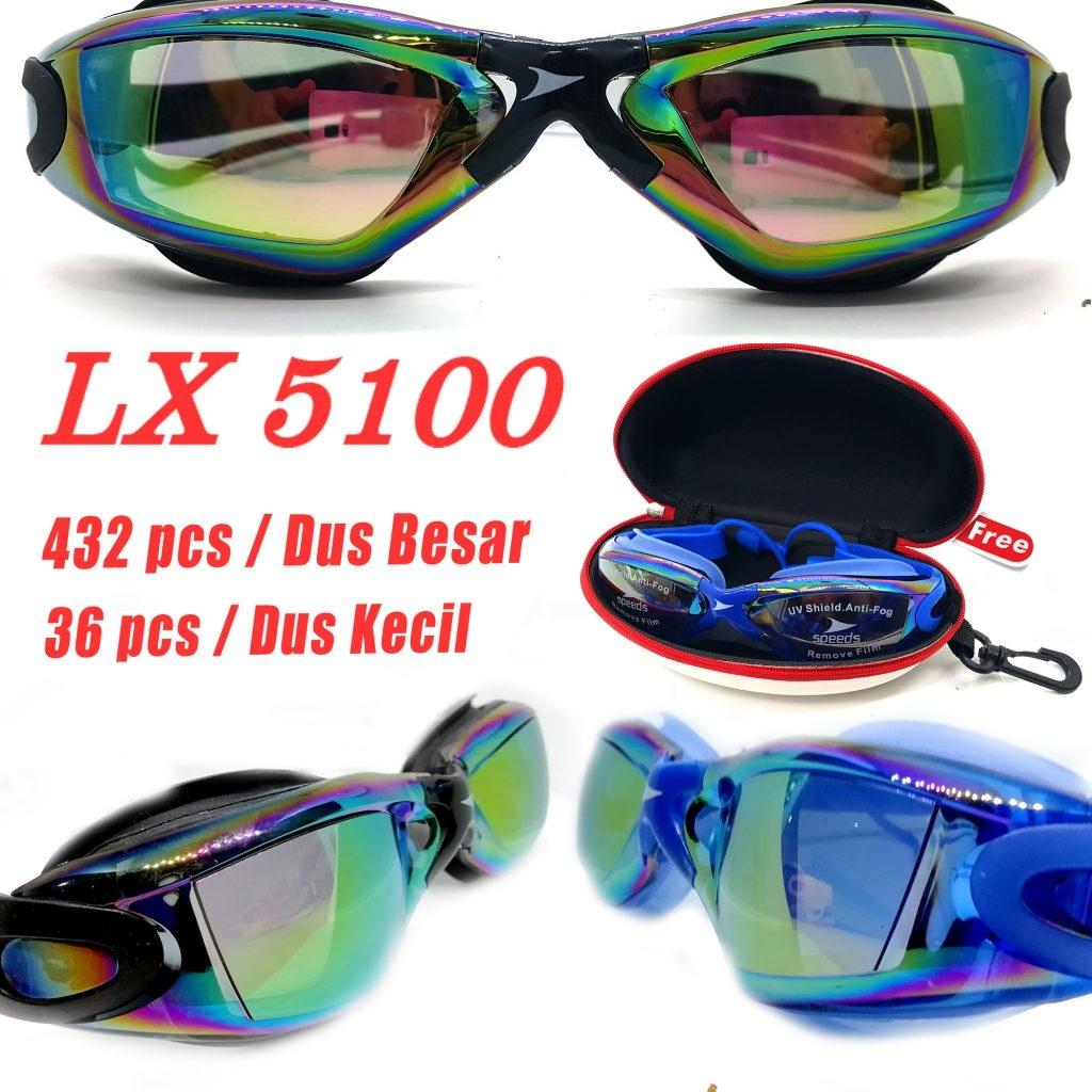Kacamata Renang Swimming Glasses Waterproof Anti Kabut Anti-fog Pelindungan UV UV .